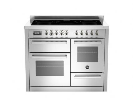 Beratzzoni 110 cm Stainless Steel 5 Zone induction Professional Series PRO110-5I-MFE-T-XT
